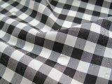 播州織 撥水加工 ギンガムチェック0.8cm 白×黒