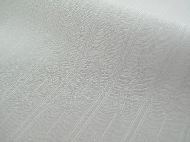 画像1: 播州織 ジャカード ホワイト