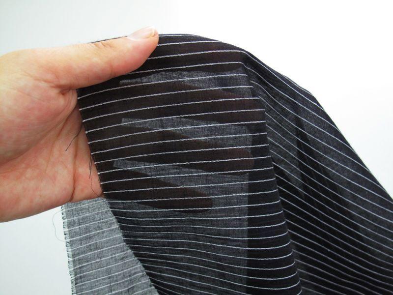 画像1: 播州織 ボイル糸ピンストライプ