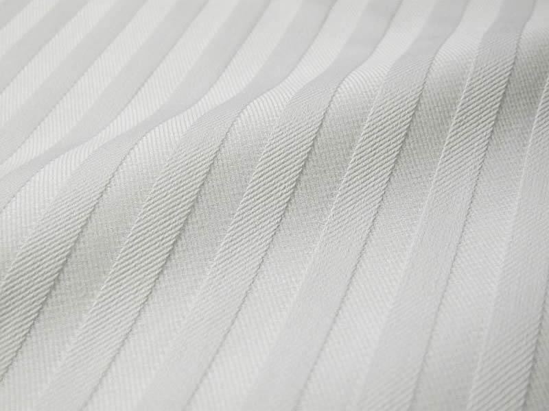 画像1: 播州織 ドビーストライプ ホワイト