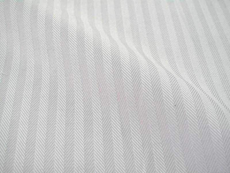 画像1: 播州織 ドビーストライプ パープル