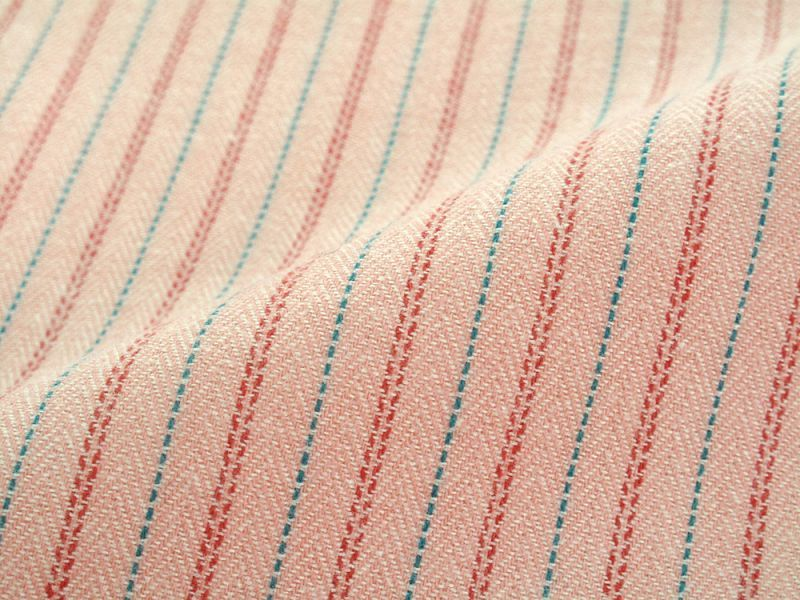 画像1: 播州織 起毛生地 ピンク