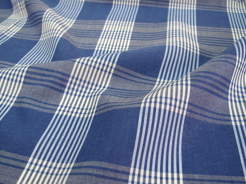 画像1: 播州織  テンセルポプリン ブルー