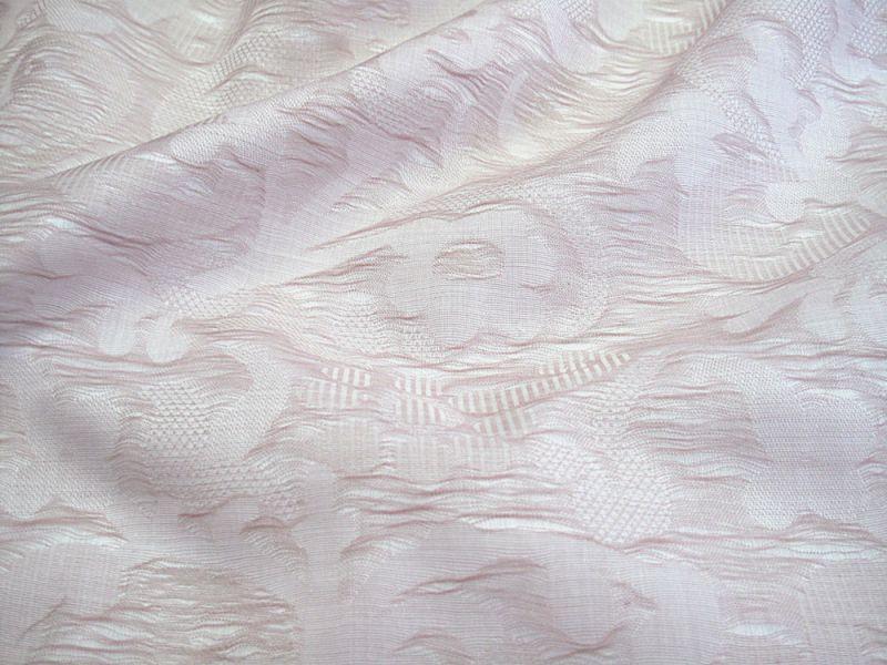 画像1: 播州織 クラッシュジャカード モスピンク 広幅