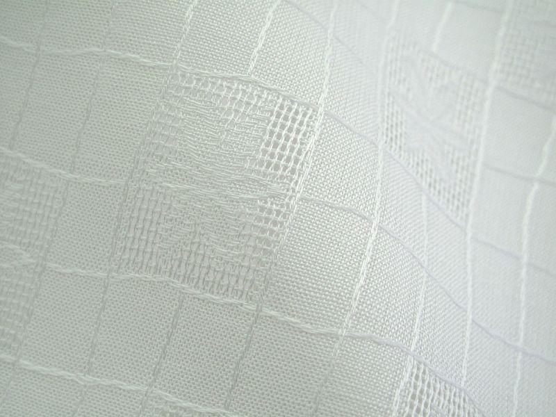 画像1: 播州織 ジャカードホワイト Q 細い花