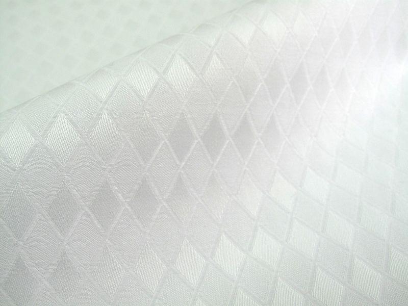 画像1: 播州織 菱形ジャカード ホワイト