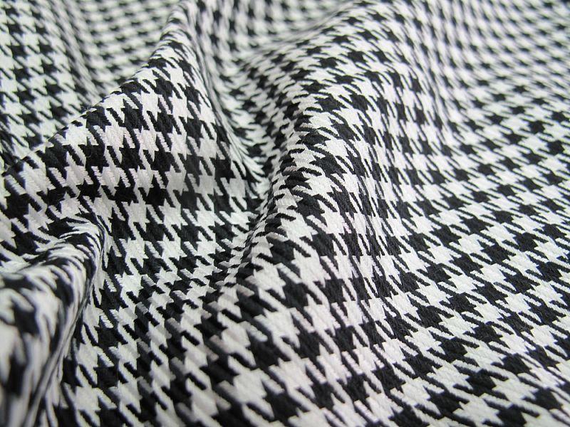 画像1: 播州織 ソアロン ブラック×ホワイト