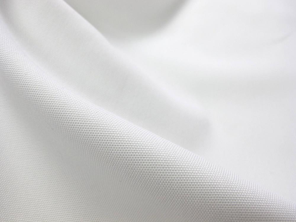 画像1: 播州織 オックスフォード シロ 広幅