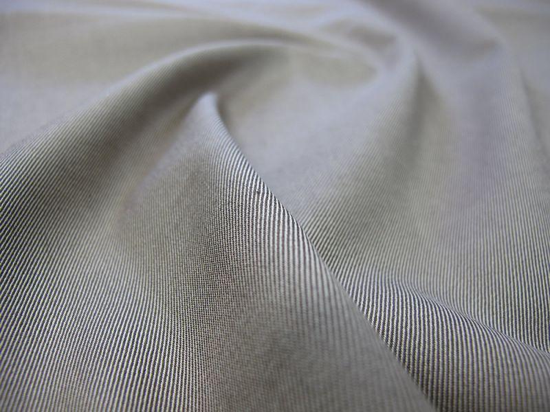 画像1: 播州織 ツイル ストレッチ ブラウン