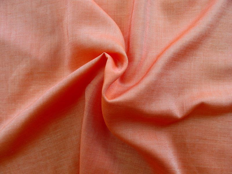 画像1: 播州織  ツイル オレンジ
