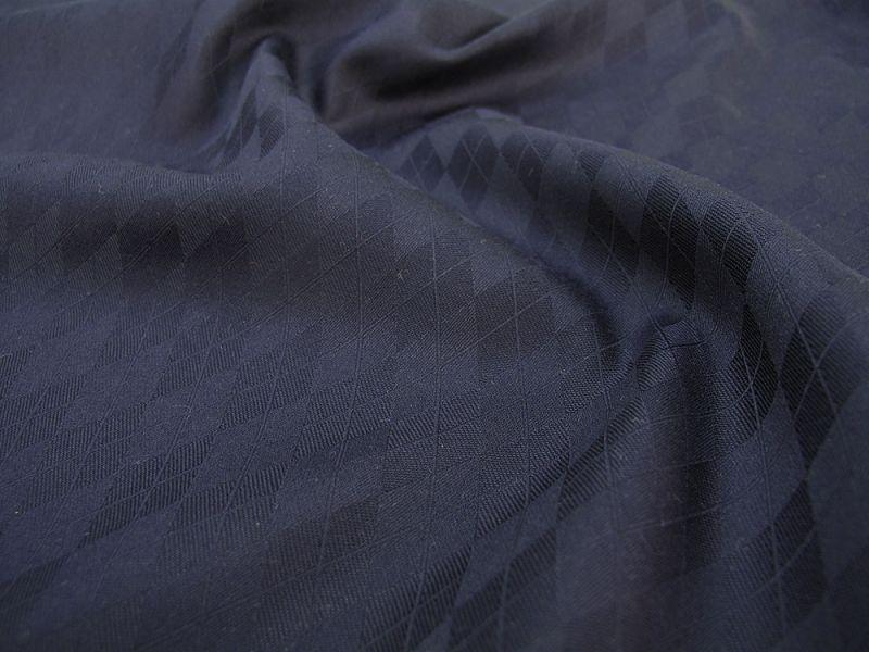 画像1: 播州織 菱形 ネイビー