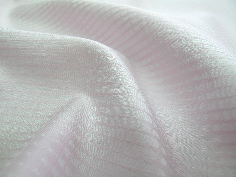 画像1: 播州織 ジャカード 淡ピンク