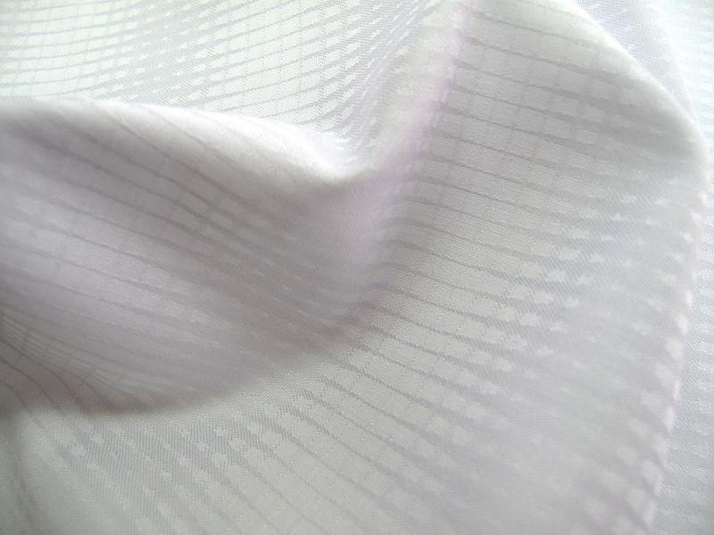画像1: 播州織 ジャカード ライトグレー