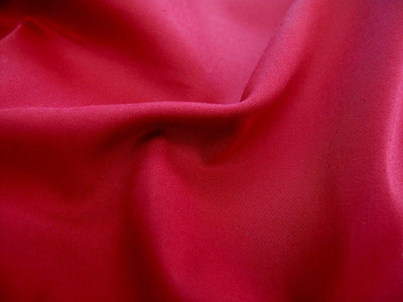 画像1: 播州織 ドビー レッド 広幅