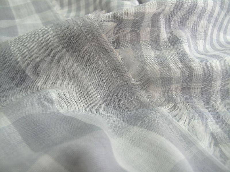 画像1: ダブルガーゼ グレー 広幅