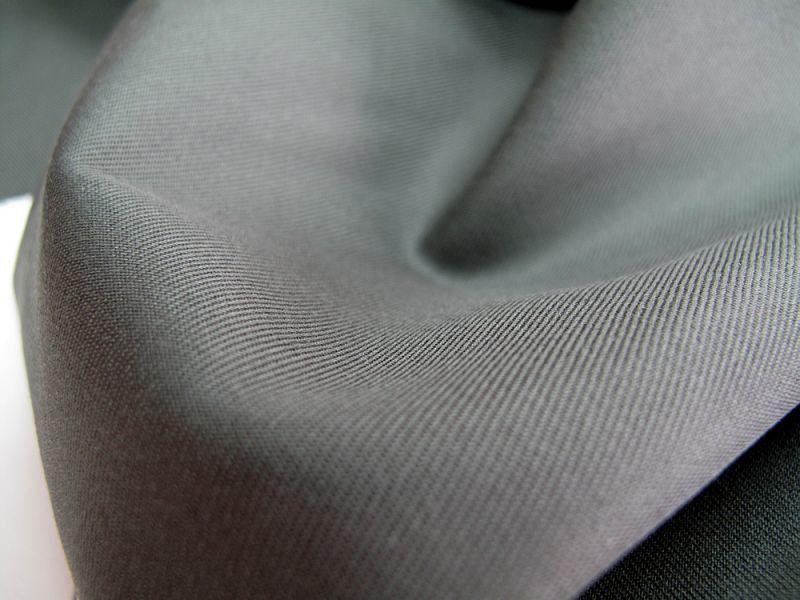 画像1: 播州織 ツイル カーキ