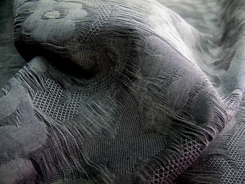 画像1: 播州織 クラッシュ加工 灰黒 広幅