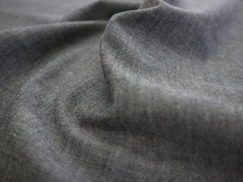 画像1: 播州織 オリジナルダンガリー クロ