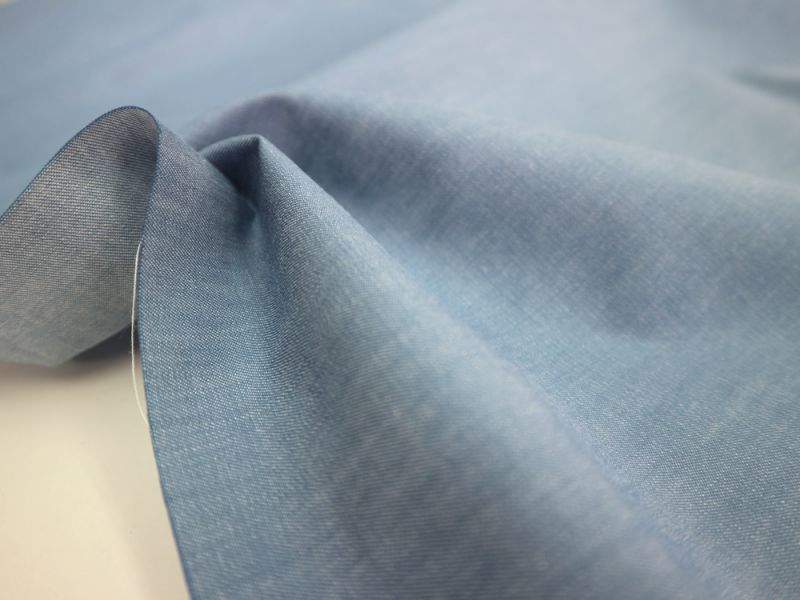 画像1: 播州織 和紙混 サックス ツイル